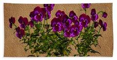 Purple Violets Hand Towel