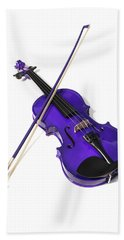 Purple Violin Bath Towel