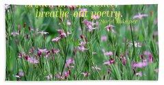 Purple Wildflower Of Poets Hand Towel