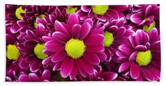 Purple Yellow Flowers Hand Towel