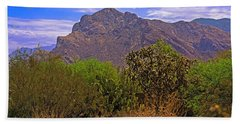 Bath Towel featuring the photograph Pusch Ridge Morning H10 by Mark Myhaver