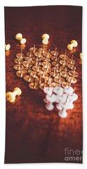 Pushpins And Thumbtacks Arranged As Light Bulb Hand Towel