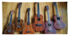 Put A Little Uke In Your Life Hand Towel by John Rivera