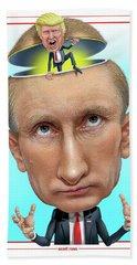 Hand Towel featuring the digital art Putin 2016 by Scott Ross