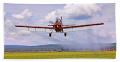Bath Towel featuring the photograph Putting It Down - Ag Pilot - Crop Duster by Jason Politte
