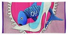 Devoted Fish Bath Towel by Don Pedro De Gracia