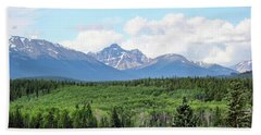 Hand Towel featuring the photograph Pyramid Island - Jasper Ab. by Ryan Crouse
