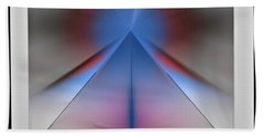 Hand Towel featuring the digital art Pyramid by John Krakora