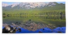 Pyramid Lake Reflection Bath Towel by Teresa Zieba
