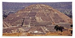 Pyramid Of The Sun - Teotihuacan Hand Towel by Juergen Weiss
