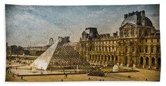 Paris, France - Pyramide Bath Towel