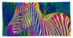 Pyschedelic Zebra Hand Towel by Jane Schnetlage