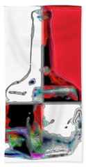 Hand Towel featuring the photograph Quad Bottle by Walt Foegelle