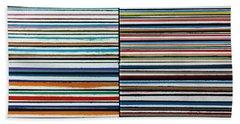 Quad Stripes Hand Towel by Stan  Magnan