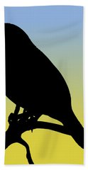 Quail Silhouette At Sunrise Bath Towel