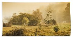 Quaint Countryside Scene Of Glen Huon Hand Towel