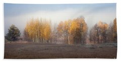 Quaking Aspen Trees At Dawn, Grand Teton National Park, Wyoming Bath Towel