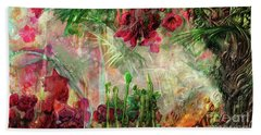 Hand Towel featuring the digital art Qualia's Jungle by Russell Kightley