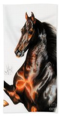 Quantum Of Solace Saddlebred Stallion Hand Towel by Cheryl Poland