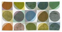 Quarter Circles Layer Project Three Hand Towel by Michelle Calkins