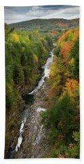Quechee Gorge Fall Vt Bath Towel
