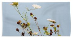 Queen Anne's Lace And Dried Clovers Bath Towel