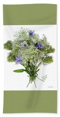 Queen Anne's Lace With Purple Flowers Hand Towel