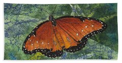 Queen Butterfly Watercolor Batik Hand Towel