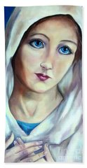Mary Queen Of Peace Hand Towel