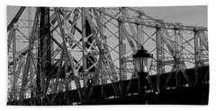 Hand Towel featuring the photograph Queensboro Bridge  by John Harding