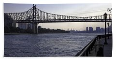 Queensboro Bridge - Manhattan Hand Towel by Madeline Ellis