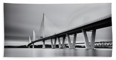 Queensferry Crissing Bridge Mono Bath Towel