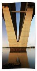 Under The Queensferry Crossing Bridge Hand Towel