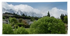 Queenstown New Zealand. Remarkable Ranges And Waters Of Lake Wakatipu Bath Towel