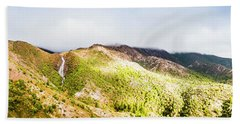 Queenstown Tasmania Wide Mountain Landscape Hand Towel