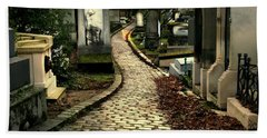 Pere Lachais Cemetery Road Bath Towel