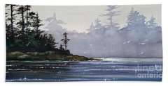 Quiet Shore Hand Towel by James Williamson