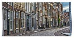 Quiet Street In Dordrecht Hand Towel