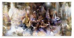 Hand Towel featuring the digital art  Quiet Thunder by Linda Sannuti
