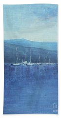 Bath Towel featuring the painting Quietude by Jane See
