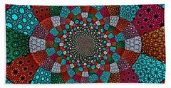 Quilted Glasswork Hand Towel