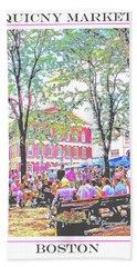 Quincy Market, Boston Massachusetts, Poster Image Hand Towel