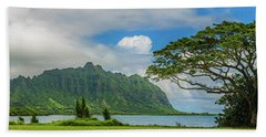 Quintessential Hawaii 2 Hand Towel by Leigh Anne Meeks