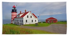 Quoddy Head Lighthouse Hand Towel