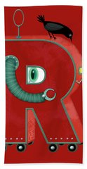 R Is For Robot Bath Towel