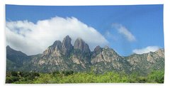 Hand Towel featuring the photograph  Organ Mountains Rabbit Ears by Jack Pumphrey