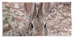 Rabbit Stare Bath Towel