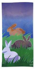 Rabbits Rabbits Rabbits Bath Towel