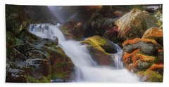 Hand Towel featuring the photograph Race Brook Falls 2017 Square by Bill Wakeley
