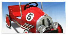 Bath Towel featuring the photograph Race Car Peddle Car by Mike McGlothlen